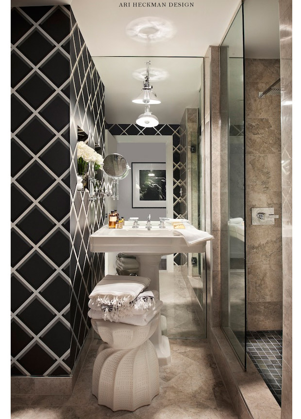CÔMODOS  Living Gazette  Part 17 -> Banheiro Pequeno Com Espelho Ate O Teto