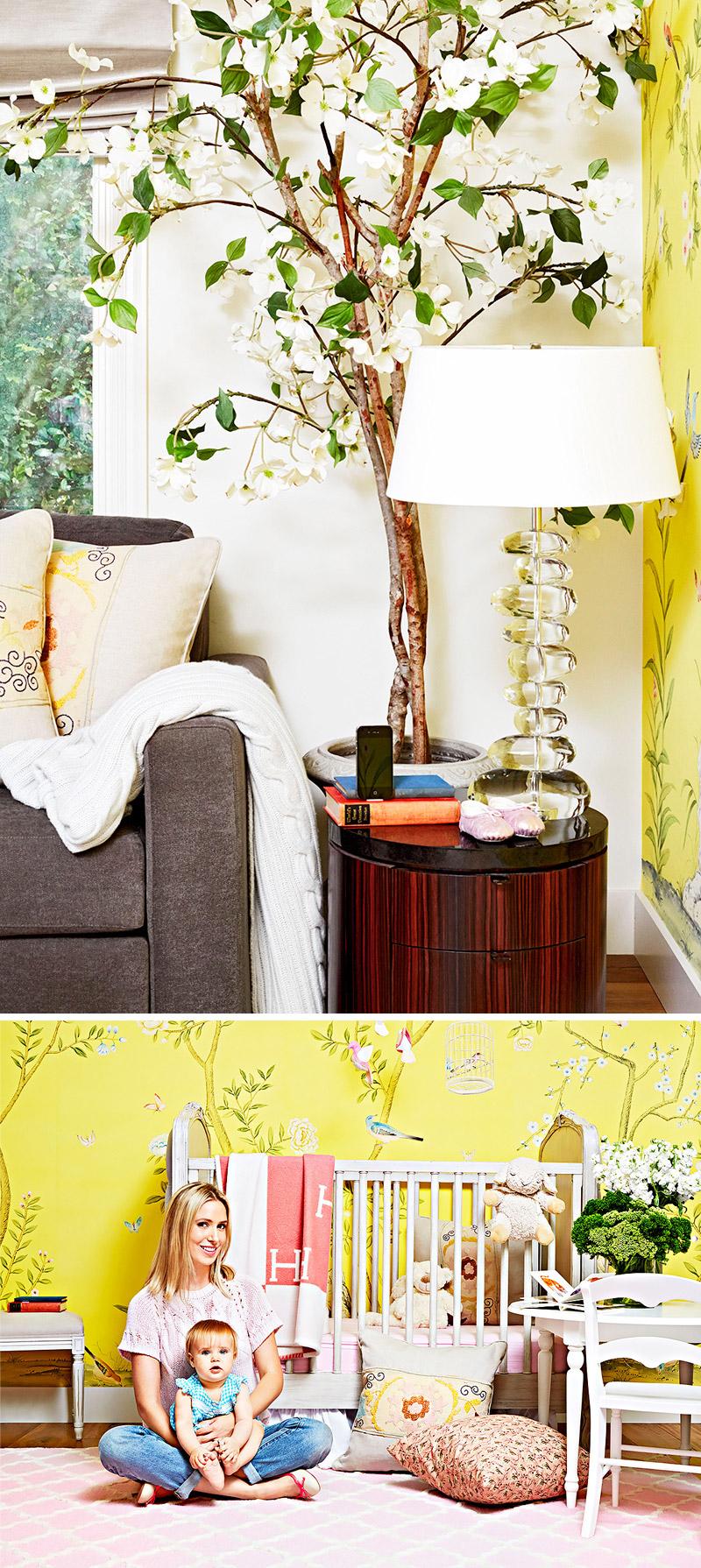 living-gazette-barbara-resende-decor-quarto-bebe-papel-parede-floral-amarelo-tapete-estilo-classico