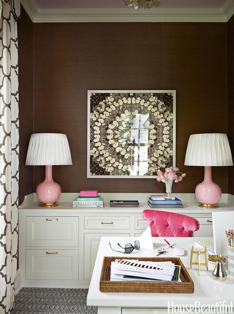Eleg ncia com decora o cl ssica em suaves tons de azul e verde living gazette - Creative attarctive home office decorating ideas ...