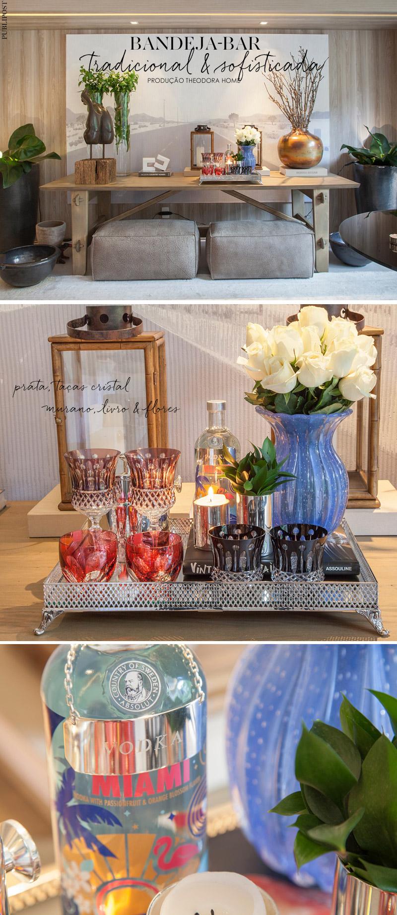 Como produzir uma bandeja bar, por Theodora Home Living Gazette -> Decoração De Home Bar