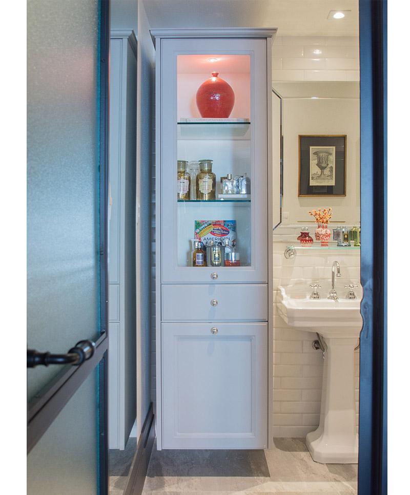 Banheiro tradicional  Living Gazette -> Armario Banheiro Alto