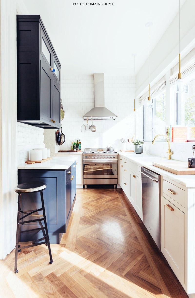 Cozinha Estreita Simples Bonita E Funcional Living Gazette