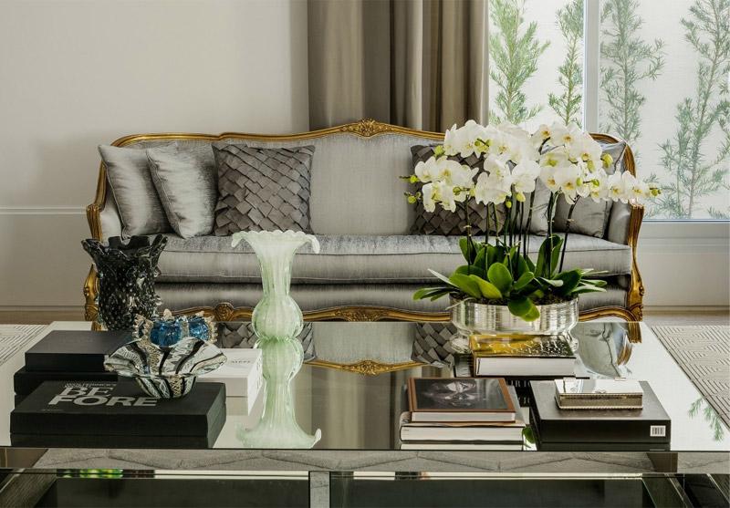 Eleg ncia contempor nea em sala por christina hamoui for Decoracion casa clasica moderna
