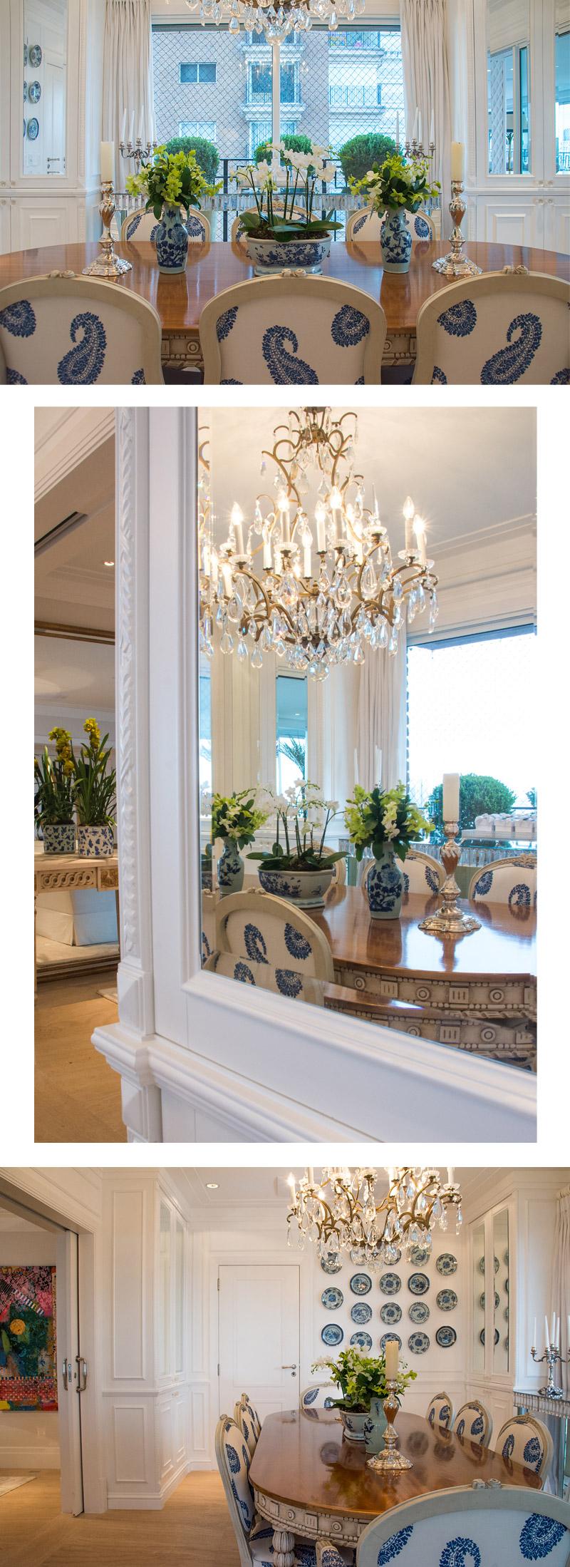 O Apto De Maria Rudge Por Theodora Home Living Gazette -> Decoracao Sala De Jantar Azul