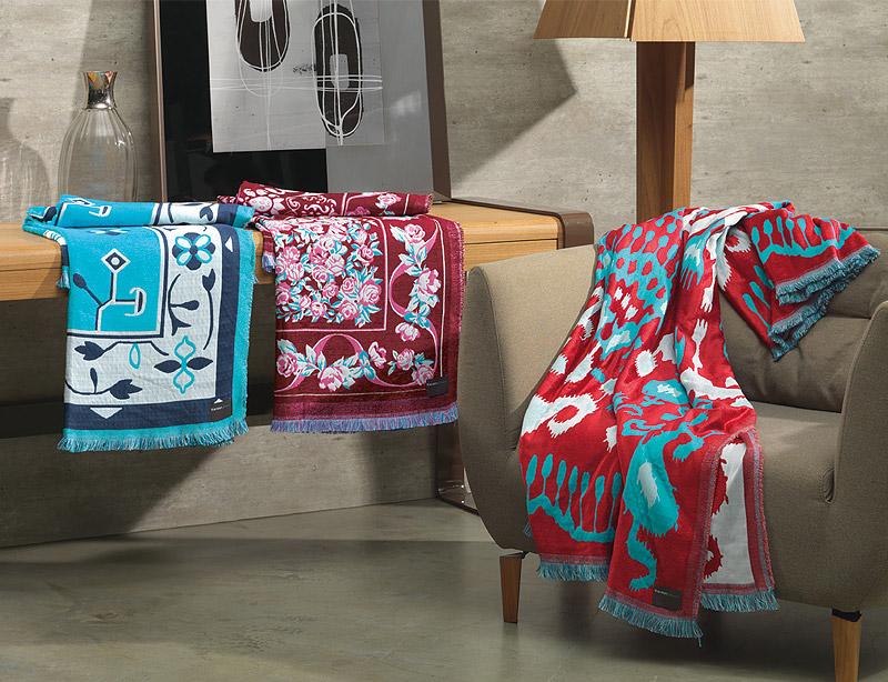 Lan amento as mantas lindas para sof da karsten design - Mantas para el sofa ...